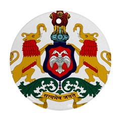 State Seal of Karnataka Round Ornament (Two Sides)