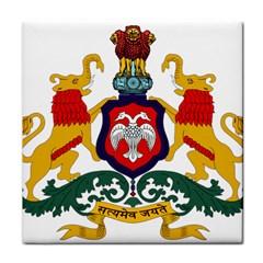 State Seal of Karnataka Face Towel