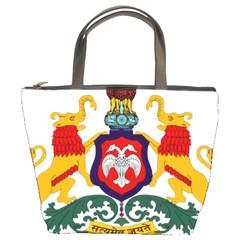 State Seal of Karnataka Bucket Bags