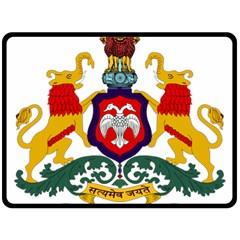 State Seal of Karnataka Fleece Blanket (Large)