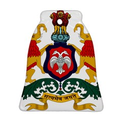 State Seal of Karnataka Bell Ornament (Two Sides)