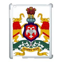 State Seal of Karnataka Apple iPad 3/4 Case (White)