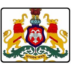 State Seal of Karnataka Double Sided Fleece Blanket (Medium)