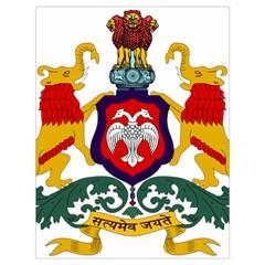 State Seal of Karnataka Drawstring Bag (Large)