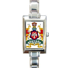 State Seal of Karnataka Rectangle Italian Charm Watch