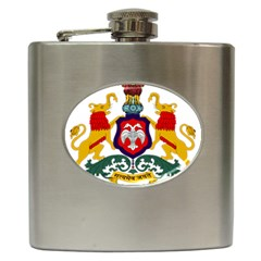 State Seal of Karnataka Hip Flask (6 oz)