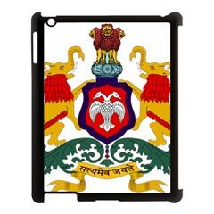 State Seal of Karnataka Apple iPad 3/4 Case (Black)