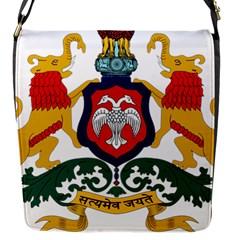 State Seal of Karnataka Flap Messenger Bag (S)