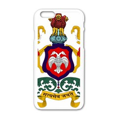 State Seal of Karnataka Apple iPhone 6/6S White Enamel Case