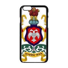 State Seal of Karnataka Apple iPhone 6/6S Black Enamel Case