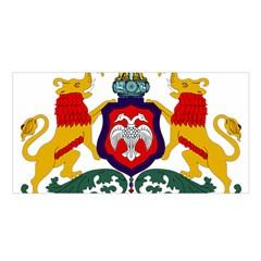 State Seal of Karnataka Satin Shawl