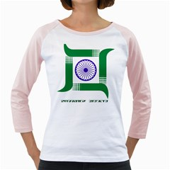 Seal of Indian State of Jharkhand Girly Raglans