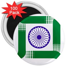 Seal of Indian State of Jharkhand 3  Magnets (100 pack)