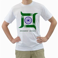 Seal of Indian State of Jharkhand Men s T-Shirt (White) (Two Sided)