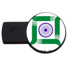 Seal of Indian State of Jharkhand USB Flash Drive Round (4 GB)