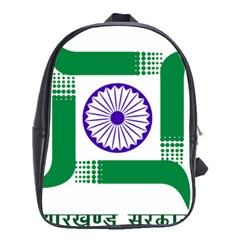Seal of Indian State of Jharkhand School Bags(Large)