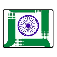 Seal of Indian State of Jharkhand Fleece Blanket (Small)
