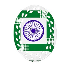 Seal Of Indian State Of Jharkhand Oval Filigree Ornament (two Sides)