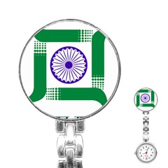 Seal of Indian State of Jharkhand Stainless Steel Nurses Watch
