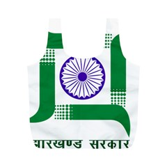 Seal of Indian State of Jharkhand Full Print Recycle Bags (M)