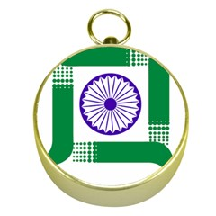 Seal of Indian State of Jharkhand Gold Compasses