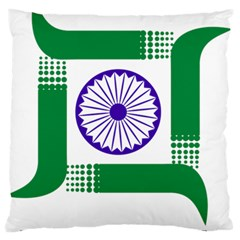 Seal of Indian State of Jharkhand Large Flano Cushion Case (Two Sides)