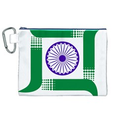Seal of Indian State of Jharkhand Canvas Cosmetic Bag (XL)