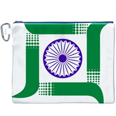 Seal of Indian State of Jharkhand Canvas Cosmetic Bag (XXXL)