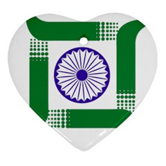 Seal of Indian State of Jharkhand Ornament (Heart)