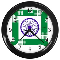 Seal of Indian State of Jharkhand Wall Clocks (Black)