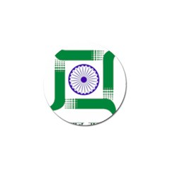 Seal of Indian State of Jharkhand Golf Ball Marker