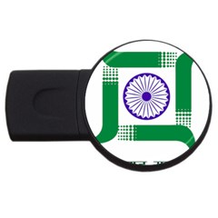 Seal of Indian State of Jharkhand USB Flash Drive Round (1 GB)