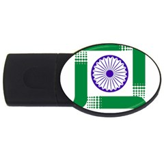 Seal of Indian State of Jharkhand USB Flash Drive Oval (2 GB)