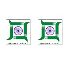Seal of Indian State of Jharkhand Cufflinks (Square)