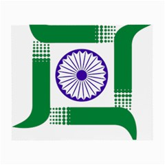 Seal of Indian State of Jharkhand Small Glasses Cloth (2-Side)