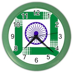 Seal of Indian State of Jharkhand Color Wall Clocks