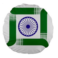 Seal of Indian State of Jharkhand Large 18  Premium Round Cushions