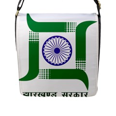 Seal of Indian State of Jharkhand Flap Messenger Bag (L)