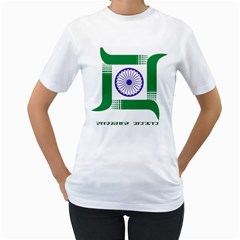 Seal of Indian State of Jharkhand Women s T-Shirt (White)