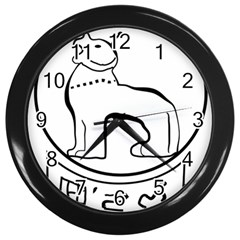 Seal of Indian State of Manipur Wall Clocks (Black)