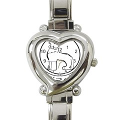 Seal of Indian State of Manipur Heart Italian Charm Watch
