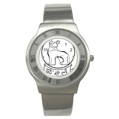 Seal of Indian State of Manipur Stainless Steel Watch