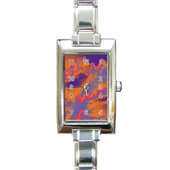 Sky pattern Rectangle Italian Charm Watch