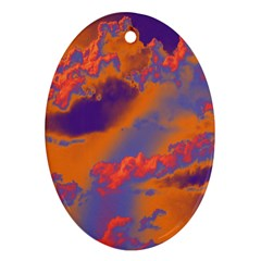 Sky pattern Ornament (Oval)