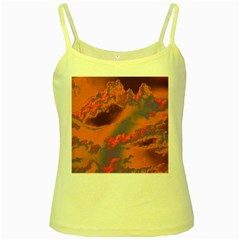 Sky pattern Yellow Spaghetti Tank