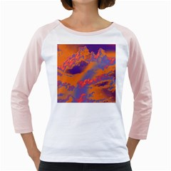 Sky pattern Girly Raglans