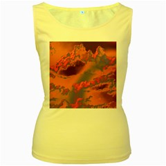 Sky pattern Women s Yellow Tank Top