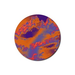 Sky pattern Rubber Coaster (Round)