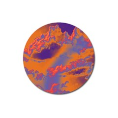 Sky pattern Magnet 3  (Round)