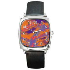 Sky pattern Square Metal Watch